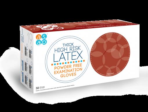 Thick High Risk Latex Powder Free Examination Gloves