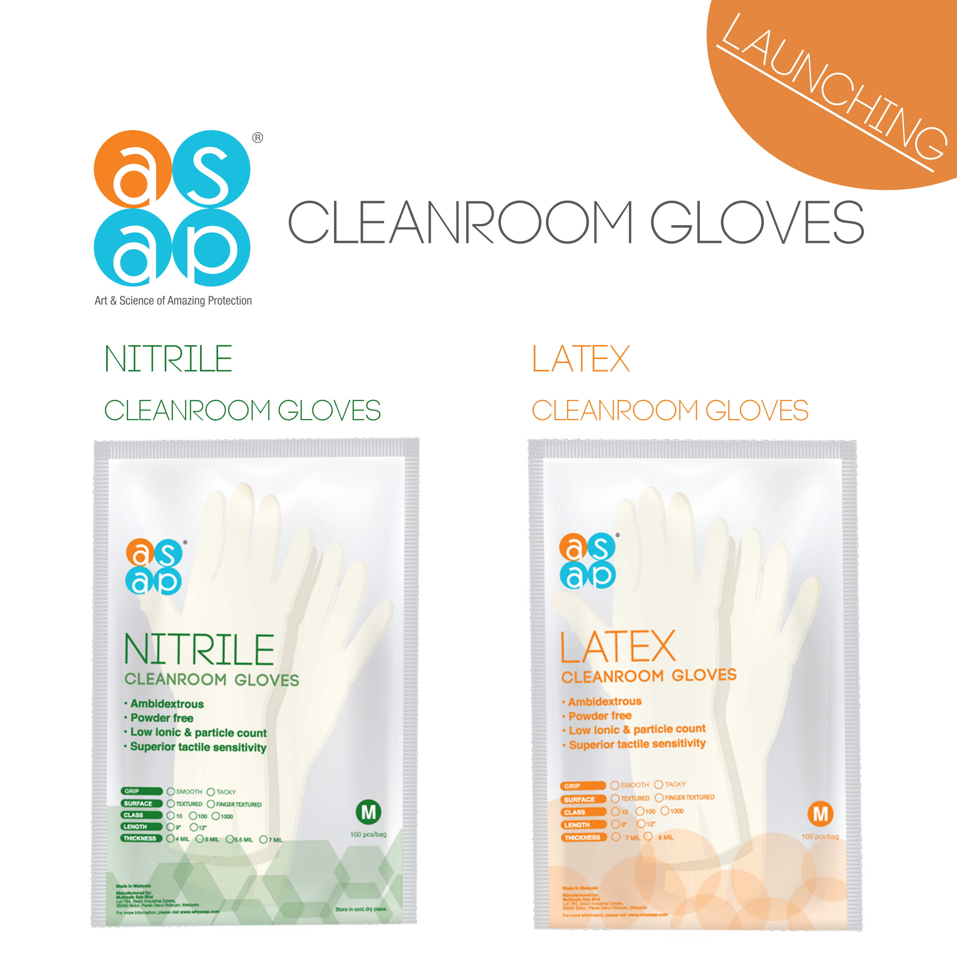ASAP Innovations UK laucnhes its bestselling Cleanroom gloves to the UK market